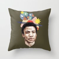 caleb troy Throw Pillows featuring Troy by mycolour