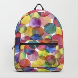Multi-Color Watercolor Paint Dabs Pattern Backpack