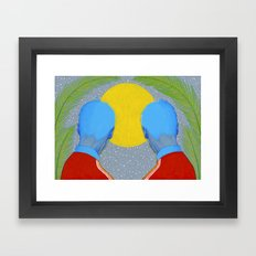 Track jackets in the night Framed Art Print