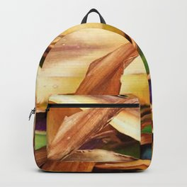 Leaves on the ground. brown, yellow, nature, decor, art, Society6. Backpack