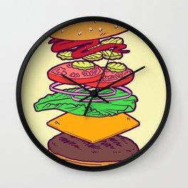 Vegan Burger Anatomy (No Words) Wall Clock