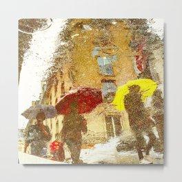 3 Umbrella Ladies Metal Print