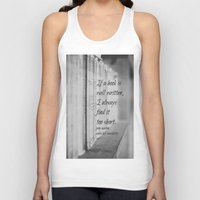 jane austen Tank Tops featuring Jane Austen Book by KimberosePhotography