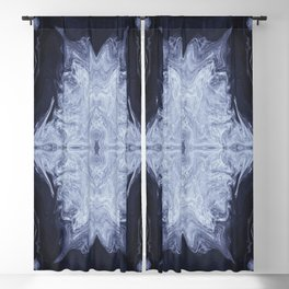 Firmament in Blue Blackout Curtain