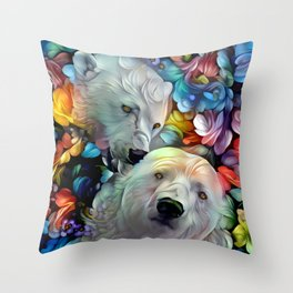 I'm Just Gonna Nibble on Your Ear Maybe a Little Bit... Throw Pillow