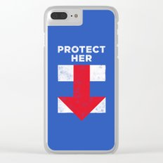 Protect Her Clear iPhone Case