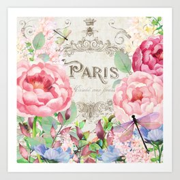Paris Flower Market III Art Print