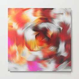 red brown and pink spiral painting Metal Print