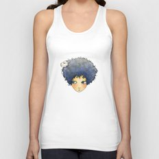 the girl with lamb hair Unisex Tank Top
