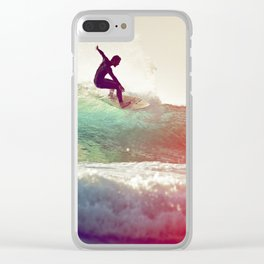 Danse avec les vagues Clear iPhone Case