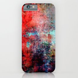 Modern  Red Abstract Design iPhone Case