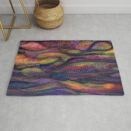 Purple rain Rug