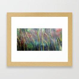 Windy Grass Framed Art Print
