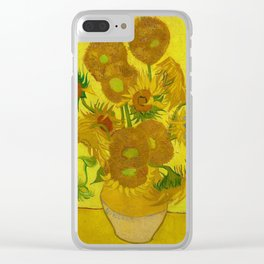 Sunflowers by Vincent van Gogh (1888) Clear iPhone Case