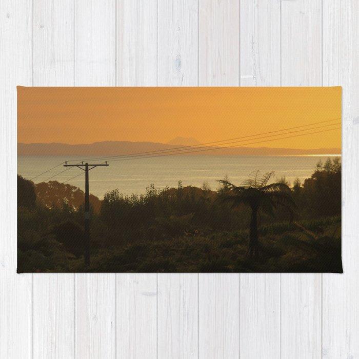 79fef576be8a6 Te Kaha views featuring Putauaki - Mt Edgecombe Rug by gmoanab ...
