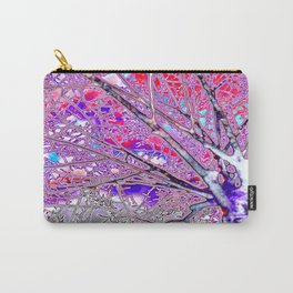 Digital Tree Hot Magenta Pizzazz Carry-All Pouch
