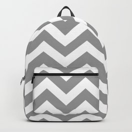 Spanish gray - grey color - Zigzag Chevron Pattern Backpack
