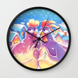 New Year of the Rooster Wall Clock