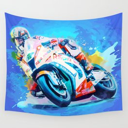 Superbike Racing Wall Tapestry