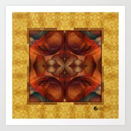 Chimera Gold & Blood Art Print