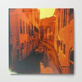 Venice in Redscale Film Metal Print