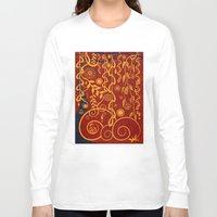 gustav klimt Long Sleeve T-shirts featuring A Garden for Gustav by DebS Digs Photo Art