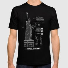 Statue of Liberty MEDIUM Black Mens Fitted Tee