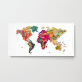 World Map 2027 Metal Print