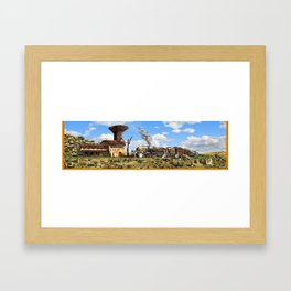 Karoo Station Framed Art Print