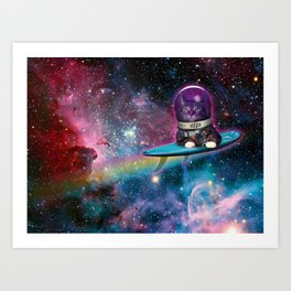 Spacesurfer Bruce Art Print
