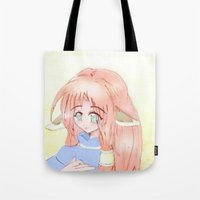 kitsune Tote Bags featuring Kitsune by MivMusse