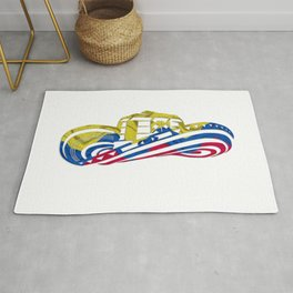 Colombian Sombrero Vueltiao in Colombian Flag Colors Rug