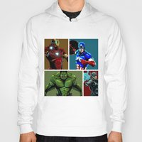 avenger Hoodies featuring Avenger Team by Carrillo Art Studio