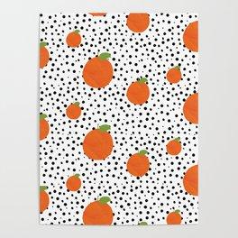 Polka Dot Oranges Poster