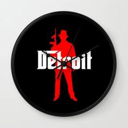 Detroit mafia Wall Clock