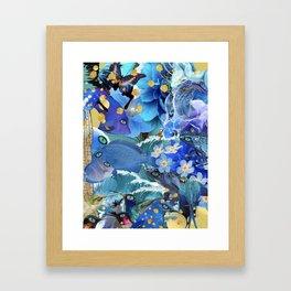 Blu Blu Framed Art Print