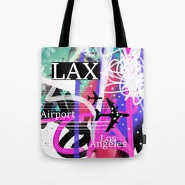 LAX Los Angeles airport code Tote Bag