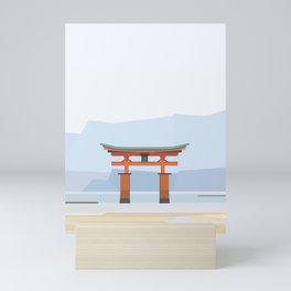 Floating torii, Itsukushina Shrine, Japan Mini Art Print