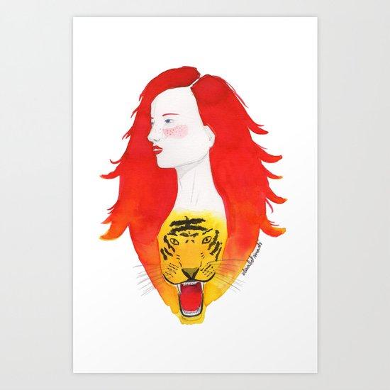 Roaring fire Art Print