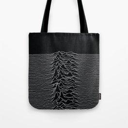 Unknown Radio Waves - Unknown Pleasures Tote Bag