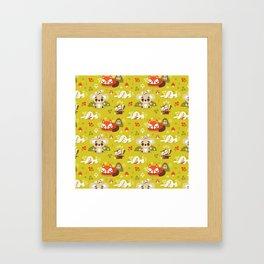 Sleeping Woodland Animals Framed Art Print