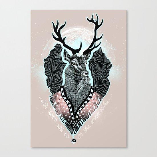 Wind:::Deer Canvas Print