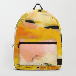 landscape abtract - paysage jaune Backpack