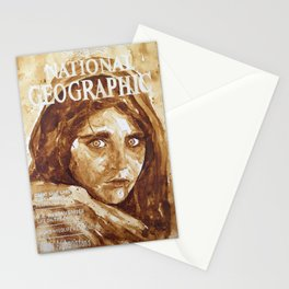 National Geographic, Afghan Girl Cover  Stationery Cards
