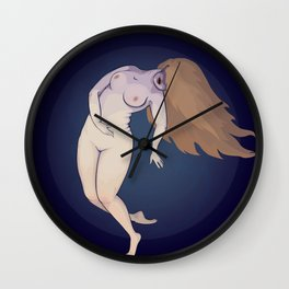 A flying witch Wall Clock