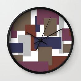 Blocked Purple Wall Clock