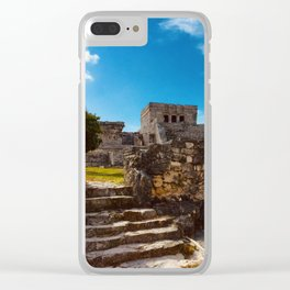 Mayan Ruins Clear iPhone Case