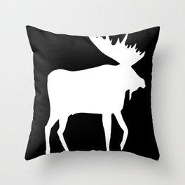 Moose by Monika Shepherdson Throw Pillow
