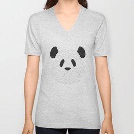 Pandas's face Unisex V-Neck