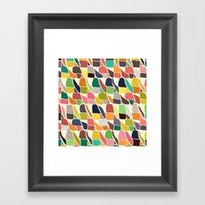 ikat weave Framed Art Print